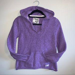 2/$50 XS Aritzia TNA purple Baja poncho hoodie